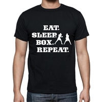 EAT SLEEP BOX REPEAT ADULT TEE