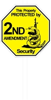 2nd Amendment Security Lawn Sign 2 without lawn stake