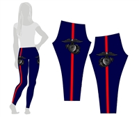 USMC Dress Blues Style Leggings