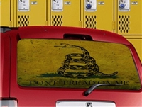 Gadsden Dont Tread on Me vehicle rear window perf