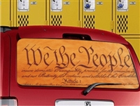 We the People vehicle rear window perf