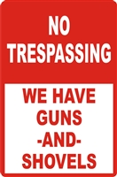 No Trespassing Aluminum Sign