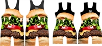 Cheese Burger with the WORKS Singlet