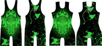 Punisher Tribal Green Singlet
