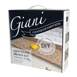 Giani Granite Countertop Paint Kit Chocolate Brown