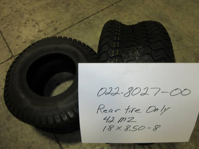 Bad Boy Mower Part - 022-8027-00 - 18x8.50-8 Rear Tire Only 42 MZ