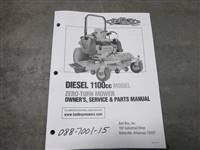 Bad Boy Mower Part 2015 1100 cc Diesel Owner's Manual