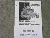 Bad Boy Mower Part 2016 1100cc Diesel Owner's Manual