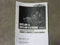 Bad Boy Mower Part - 088-7003-14 - 2014 Outlaw Owner's Manual
