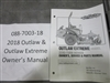 Bad Boy Mower Part - 088-7003-18 - 2018 Outlaw & Outlaw Extreme Owner's Manual