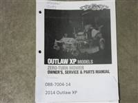 Bad Boy Mower Part - 088-7004-14 - 2014 Outlaw XP Owner's Manual