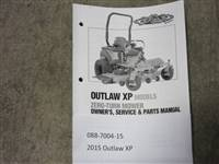 Bad Boy Mower Part - 088-7004-15 - 2015 Outlaw XP Owner's Manual