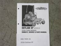 Bad Boy Mower Part - 088-7004-16 - 2016 Outlaw XP Owner's Manual