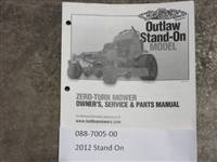 Bad Boy Mower Part - 088-7005-00 - 2012 Stand On Owner's Manual