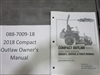 Bad Boy Mower Part - 088-7009-18 - 2018 Compact Outlaw Owner's Manual
