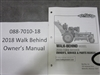 Bad Boy Mower Part - 088-7010-18 - 2018 Outlaw Walk Behind Owner's Manual
