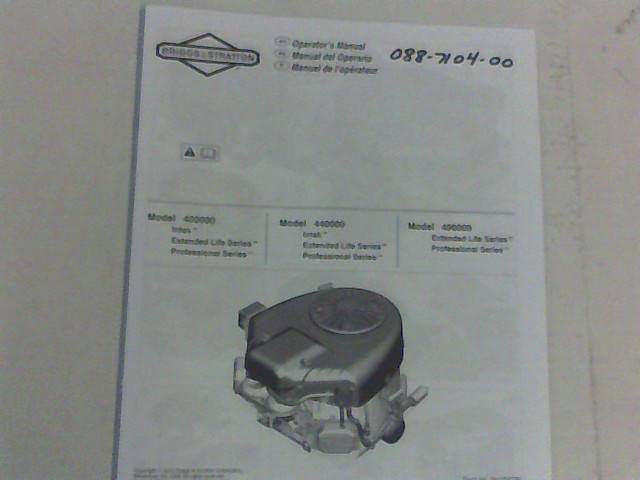 Bad Boy Mower Part 27 Briggs & Stratton Motor Manual