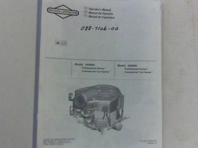 Bad Boy Mower Part 30 B&S Motor Manual, Stand-On