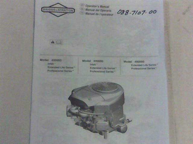 Bad Boy Mower Part 21 B&S Extended Life Motor Manual