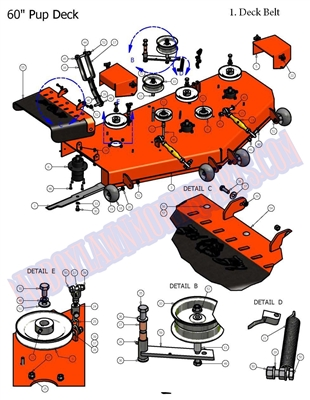 Bad Boy Mower Part - 2008 PUP & LIGHTNING 60 DECK ASSEMBLY