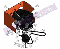 Bad Boy Mower Part 2010 MZ 21HP BRIGGS ENGINE