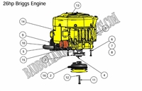 Bad Boy Mower Part 2010 ZT 26HP BRIGGS ENGINE