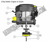 Bad Boy Mower Part 2010 ZT 27HP KOHLER ENGINE
