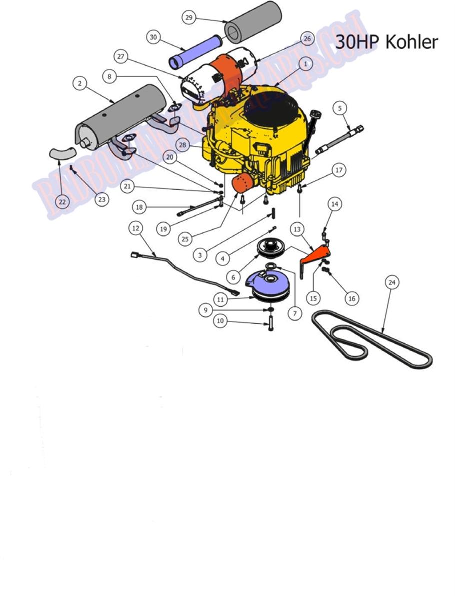 Bad Boy Mower Part  2013 Outlaw 30hp Kohler Engine