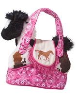 Rodeo Horse Purse with Horse Plush Available at www.little-minnows.com