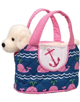 Sea Dog Purse With Removable Yellow Lab Plush at Little-Minnows.com