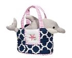 Girls' Navy Purse with Dolphin Plush Inside at Little-Minnows.com