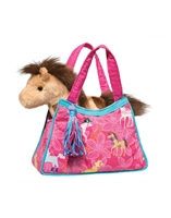 Pretty Pony Purse With Pony Plush Available at www.little-minnows.com