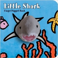 Little Shark Finger Puppet Board Book at Little-Minnows.com