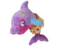 "Soft Plush Bath Toy Dolphin ""Clicker"" at Little-Minnows.com"