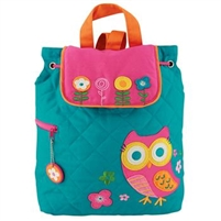 Owl Quilted Backpack available at Little-Minnows.com