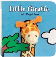 Little Giraffe Finger Puppet Board Book at Little-Minnows.com