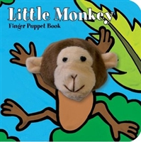 Little Monkey Finger Puppet Board Book at Little-Minnows.com