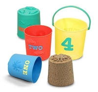 Seaside Sidekicks Nesting Pails Sand, Water or Beach Toy