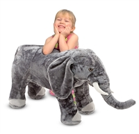 Elephant Giant Stuffed Animal Available at Little-Minnows.com