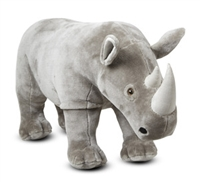 Rhinoceros Lifelike Stuffed Animal Available at Little-Minnows.com