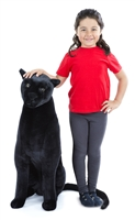 Panther Lifelike Stuffed Animal Available at Little-Minnows.com