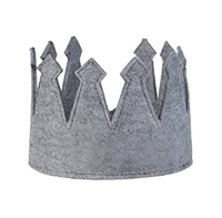 Boys' Adjustable Grey Felt Crown at Little-Minnows.com