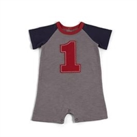 Baby Boy First Birthday One-Piece available at Little-Minnows.com