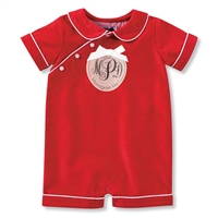 Boys' Red Corduroy Romper at Little-Minnows.com