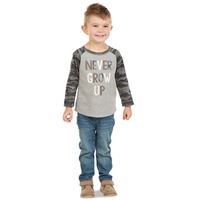 "Camo ""Never Grow Up"" T-Shirt and Pant Set at little-minnows.com"