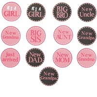 New Baby Girl Stickers Set available at Little-Minnows.com