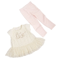 """Two"" Birthday Tunic and Legging Set available at Little-Minnows.com"