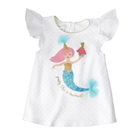 Mermaid Birthday Tunic available at Little-Minnows.com