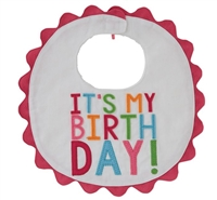 "Baby Girl Bib ""It's My Birthday""  by Mudpie Little-Minnows.com"