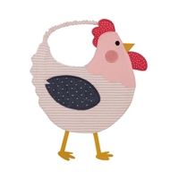 Baby Birls' French Hen Bib by Little-Minnows.com